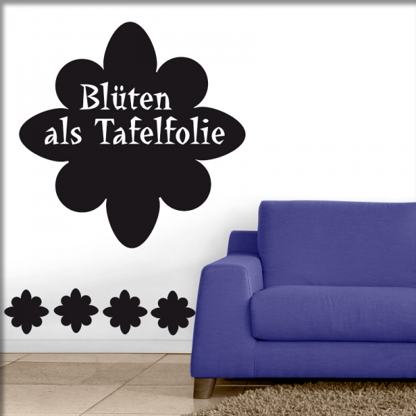 herzkauf wandtattoo shop tafelfolie bl ten online kaufen und bestellen. Black Bedroom Furniture Sets. Home Design Ideas